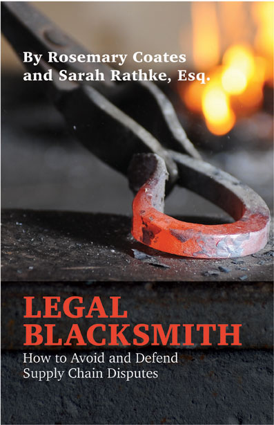 Book Review: Legal Blacksmith: How to Avoid and Defend Supply Chain Disputes